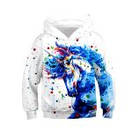 UN SWEAT LICORNE MULTICOLORE 3D VU DE FACE