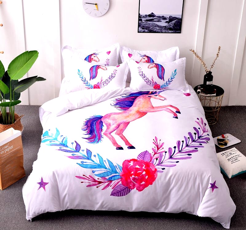 HOUSSE COUETTE LICORNE GRACIEUSE