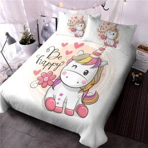 HOUSSE COUETTE LICORNE BE HAPPY