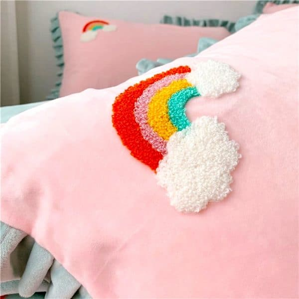 HOUSSE COUETTE LICORNE PETITE FILLE N2 TAIE D'OREILLER