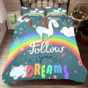 HOUSSE COUETTE LICORNE 2 PERSONNES N-2