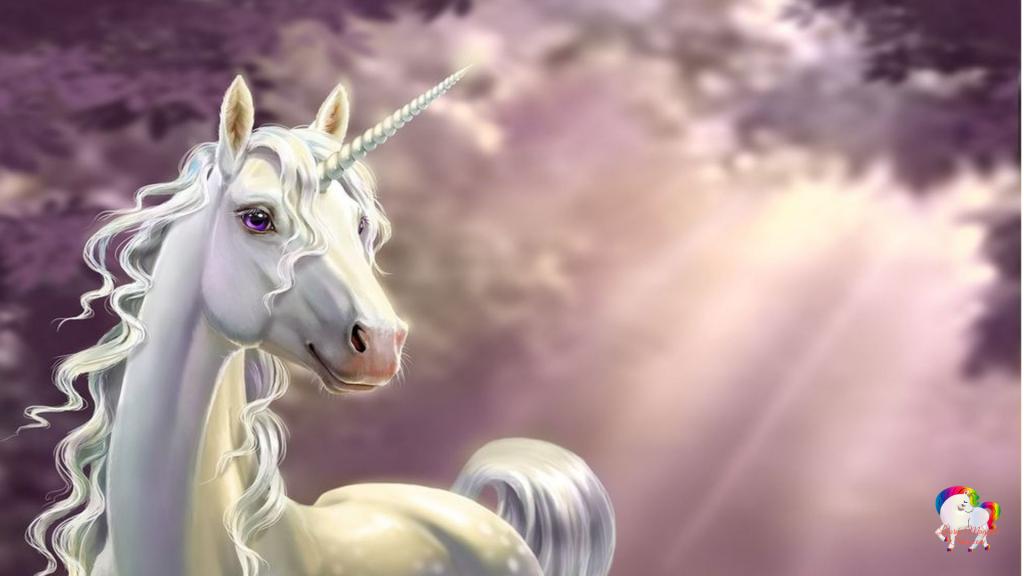 La pure et puissante licorne blanche dans un univers fantastique et magique