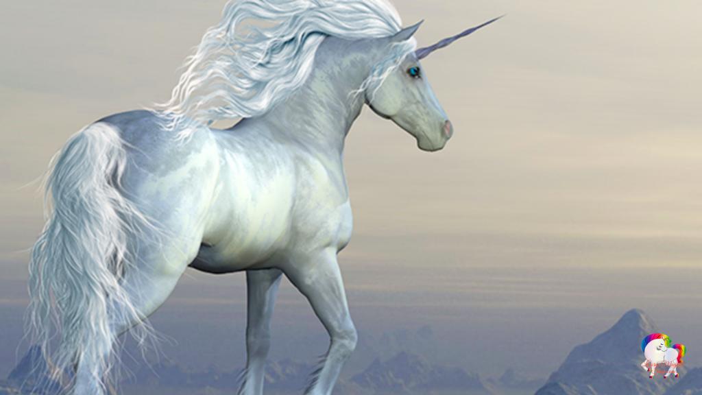 Une licorne blanche dans un monde magique et fantastique