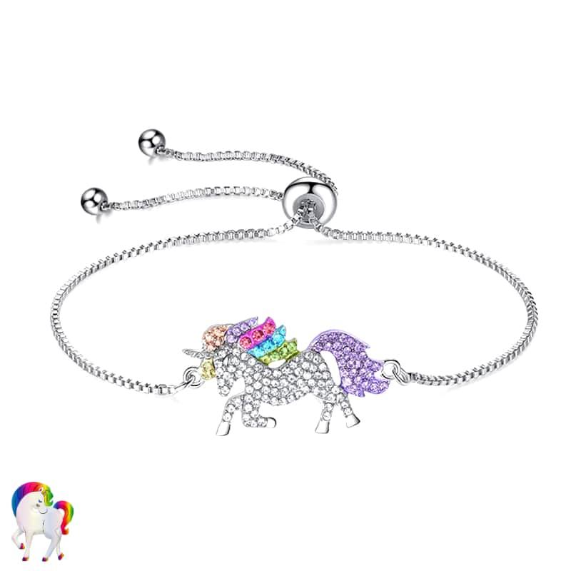 Ensemble de Bijoux Licorne arc-en-ciel Bracelet